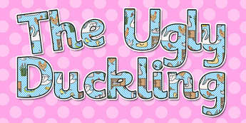 Ugly Duckling Display Lettering - display letters, ugly duckling
