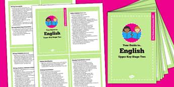 2014 Curriculum Cards Year UKS2 English - new curriculum, plan