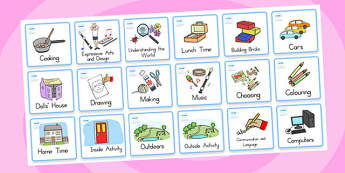 Kindergarten Foundation Visual Timetable - kindergarten, display