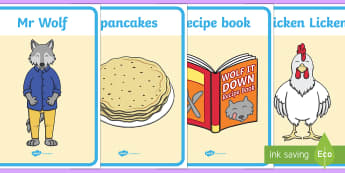 Display Posters to Support Teaching on Mr Wolf's Pancakes - mr wolfs pancakes, posters