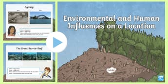 Environmental and Human Influences on Different Locations PowerPoint -  climatic conditions,  coast,  inland, country, rural Australia, ACHASSK113,Australia