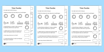 Differentiated Time Activity Sheet Pack - time, activity, sheets, differentiated, worksheet