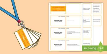 Lanyard Sized Foundation Phase Profile Shape Skills Ladder Cards - Lanyard Foundation Phase Outcomes, Skills ladders, Foundation Phase Profile, Foundation Profile, FPP
