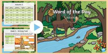 Year 1 Word of the Day Autumn 2 PowerPoint -  consolidate, definition, patterns, dictionary, rules