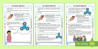 Fiche d'information différenciée : Les hand spinners - Lecture, fiche, information, informative, hand spinner, fidget spinner, compréhension écrite, diff