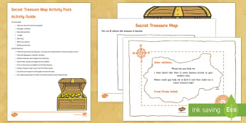 Secret Treasure Maps Resource Pack - EYFS Water, pirates, map, treasure, treasure chest, treasure map, gold
