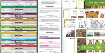 EYFS Lesson Plan Enhancement Ideas and Resources Pack to Support Teaching on Bear Hunt - planning, Early Years, continuous provision, early years planning, adult led, We're Going on a Bear Hunt, Michael Rosen, Helen Oxenbury, bears, animals