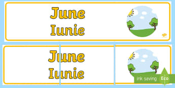 June Display Banner English/Romanian - June Display Banner - june, display banner, display, banner, EAL,Romanian-translation