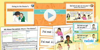 French: All About Ourselves: What's the Matter? Year 5 Lesson Pack 6
