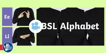 British Sign Language (BSL) Alphabet Video - learn bsl, deaf awareness, teacher of the deaf, class activity, learn british sign language, bsl a-z