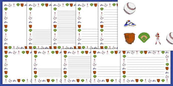 Baseball Writing Borders Pack - usa, mlb, baseball, major league baseball, writing borders, pack, writing, borders