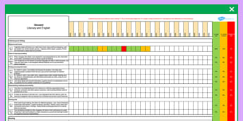 Scottish Curriculum for Excellence Second Literacy and English Assessment Spreadsheet - CfE, planning, tracking, literacy, language, english, Second