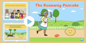 The Runaway Pancake Story PowerPoint - Pancake Day, Shrove Tuesday, pancakes, gingerbread man, alternative fairytales, alternative fairy ta