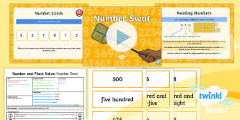 PlanIt Y3 Number and Place Value Lesson Pack Read and Write Numbers (1) - singapore, shanghai maths, dienes, problem solving, maths mastery, year 3, fun maths, hundreds, tens