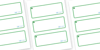 Jade Themed Editable Drawer-Peg-Name Labels (Blank) - Themed Classroom Label Templates, Resource Labels, Name Labels, Editable Labels, Drawer Labels, Coat Peg Labels, Peg Label, KS1 Labels, Foundation Labels, Foundation Stage Labels, Teaching Labels