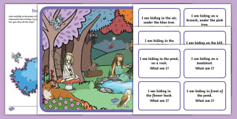 Enchanted Woodland Hide and Seek Position Activity Resource Pack - EYFS, Early Years, Children Use Everyday Language to Talk About Position and to Solve Problems, ELG,
