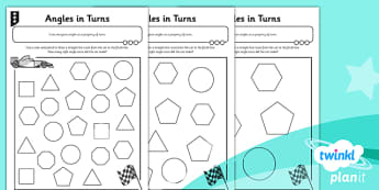 PlanIt Y3 Properties of Shapes Angles in Turns Home Learning - planit, properties of shape, home learning tasks