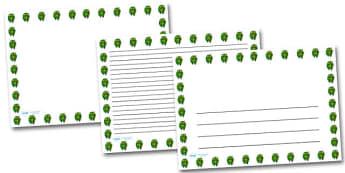 Posy Of Flowers Landscape Page Borders- Landscape Page Borders - Page border, border, writing template, writing aid, writing frame, a4 border, template, templates, landscape