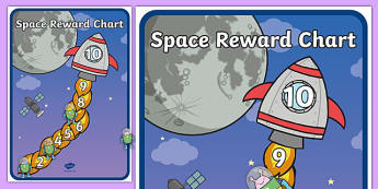 My Space Reward Chart - Reward Chart, School reward, Behaviour chart, SEN chart, Daily routine chart, space, ship, rocket, aliens, launch, moon, stars, planet, planets