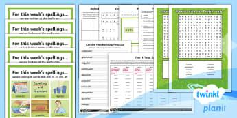 PlanIt Year 4 Term 3A Bumper Spelling Pack - Spellings Year 4