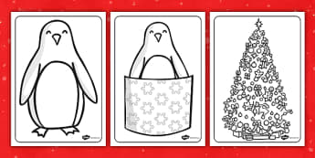 Monty the Penguin Colouring Sheets - monty, penguin, colouring