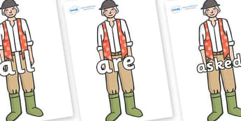 Tricky Words on Farmer to Support Teaching on Pig in the Pond - Tricky words, DfES Letters and Sounds, Letters and sounds, display, words
