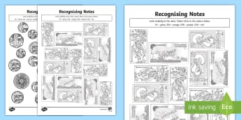 Recognising Scottish Coins and Notes Colouring Pages - Recognising Scottish Coins and Notes Colouring Pages - Measurement, measures, recognising coins and