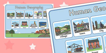 Human Geography Display Poster - display, geography, poster