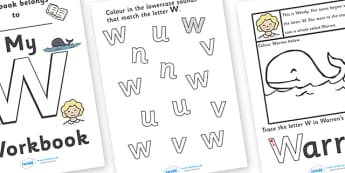 My Workbook W uppercase - education, home school, child development, children activities, free, kids, worksheets, how to write, literacy