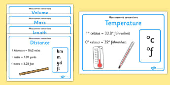 Imperial and Metric Conversions Posters - imperial, metric, conversion, measurement, pack, posters