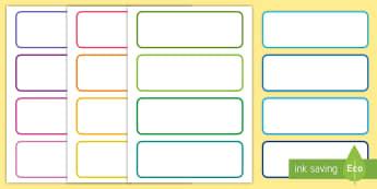 Schubladenetiketten zum Selbstgestalten - Schilder, Aufkleber, Organisation, Namensschilder, Klassenraum, Klassenzimmer, German