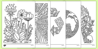 Earth Day Mindfulness Coloring Sheets - usa, america, earth day worksheets, mindfulness, coloring sheets, coloring, sheet, color