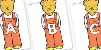A-Z Alphabet on Bears (Whatever Next) to Support Teaching on Whatever Next! - A-Z, A4, display, Alphabet frieze, Display letters, Letter posters, A-Z letters, Alphabet flashcards