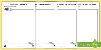 Transport Drawing Challenge Activity Sheets - transport, drawing
