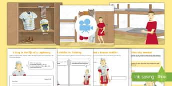 Roman Soldier Activity Pack Animation - Animations, Rome, Roman, animation, weapons, soldier, battle, armour, helmet, life, sandals, belts,