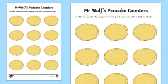Addition Counters to Support Teaching on Mr Wolf's Pancakes - mr wolfs pancakes, adding