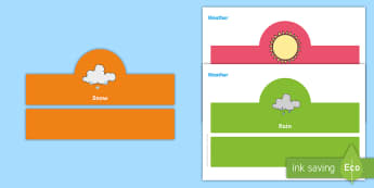 Weather Headband Oral Language Game - Oral Language, weather, weather conditions, Headband Game, Questions, Answers,Irish