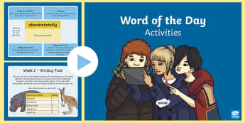 Year 6 Word of the Day Autumn 1 PowerPoint - writing, creative, sats, sentence, grammar, morning task, language, ambitious