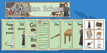 Victorian School Role Play Pack - victorian school, role play, role play pack, resource pack, victorian school role play, victorian school pack, school