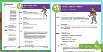 KS1 Take It Outside: Summer Story Mapping Activity - outdoor learning, forest schools, nature detectives, treasures in the garden, outdoor, woodland learning, twinkl outdoor and woodland learning owl get it