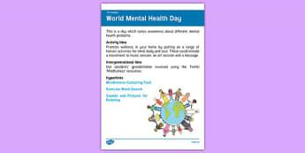 Elderly Care Calendar Planning October 2016 Mental Health Day - Elderly Care, Calendar Planning, Care Homes, Activity Co-ordinators, Support, October 2016