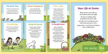 Easter Card Inserts - Easter, time, season, Spring, new life, new beginnings, egg, eggs, chick, chicken, Jesus, cross, Las