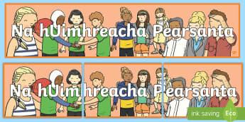 Na hUimhreacha Pearsanta Display Banner Gaeilge - duine, beirt, counting people, irish, mé féin,Irish