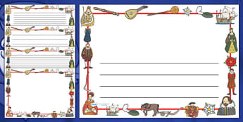 The Tudors Full Page Borders (Landscape) - page border, border, frame, writing frame, writing template, writing aid, the tudors, history, tudors, the tudors page borders, the tudors writing frames, writing, A4 page, page edge, writing activities, lin