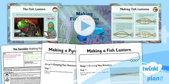 Art: The Seaside: Making Fish Lanterns UKS2 Lesson Pack 5