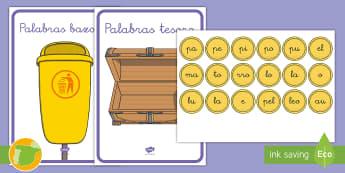 Encontrar las palabras tesoro: La letra P - Juego, lecto, leer, lectura, fonemas, sonidos, didáctico, consonantes, Spanish