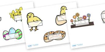 Editable Self Registration Labels (Easter) - Self registration, register, dinosaur, editable, labels, registration, child name label, printable labels