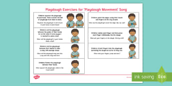 'Playdough Movement Song' Playdough Exercises Adult Guidance - Playdough Play, dough disco, finger gym, fine motor skills, physical development