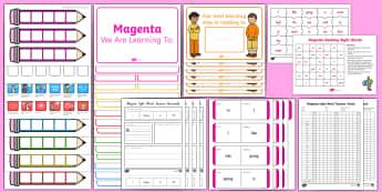 Magenta Sight Words Resource Pack - NZ, Literacy, magenta, sight words, spell, write, read,