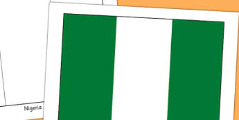 Nigeria Flag Display Poster - countries, country, geography